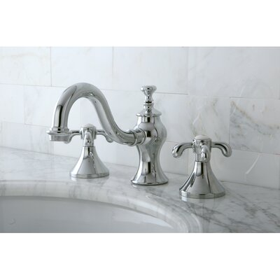 French Country Double Handle Widespread Bathroom Faucet with Pop-Up Drain Product Photo