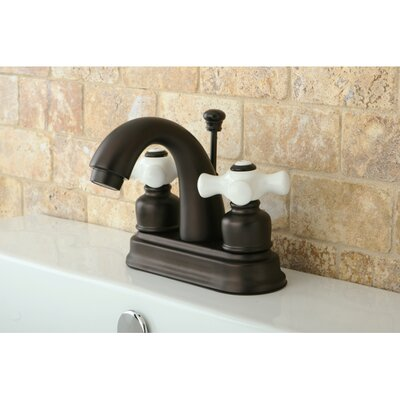 Restoration Double Handle Centerset Bathroom Sink Faucet with ABS Pop-Up Drain Product Photo
