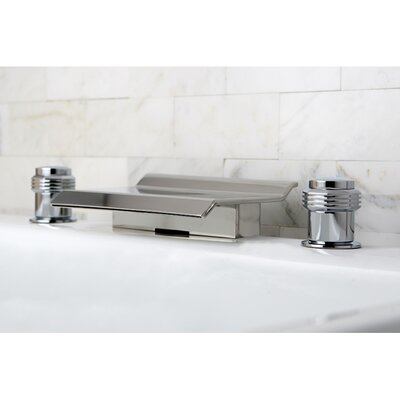 Milano Double Handle Waterfall Roman Tub Filler Product Photo