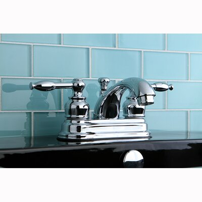 Knight Double Handle Centerset Bathroom Faucet with ABS Pop-Up Drain Product Photo