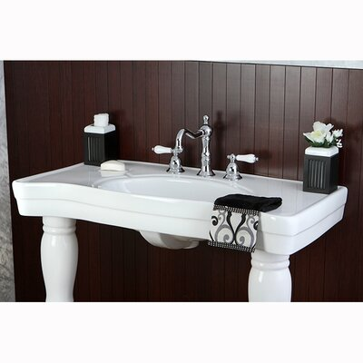 Wall Mount Pedestal Sink : ... Brass Imperial Wall Mount Pedestal Bathroom Sink & Reviews Wayfair