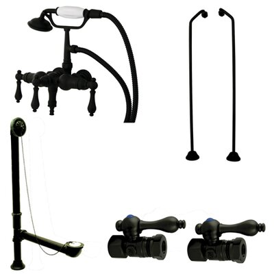 Vintage/Aqua Eden Wall Mount Down Spout Clawfoot Tub Faucet Package Product Photo