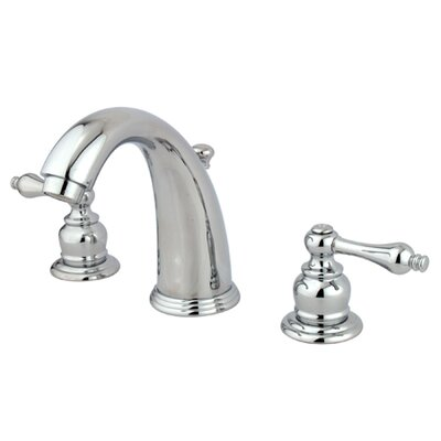 Kingston Brass Victorian Double Handle Widespread Bathroom Faucet With Brass Pop Up Drain