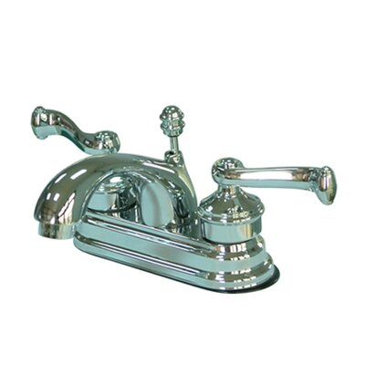 Royale Double Handle Centerset Bathroom Faucet with Brass Pop-Up Drain Product Photo