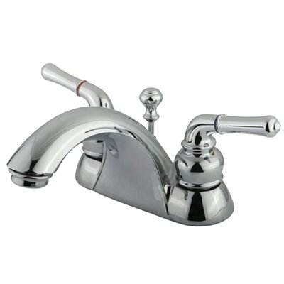 Naples Double Handle Centerset Bathroom Sink Faucet with ABS/Brass Pop-Up Drain Product Photo