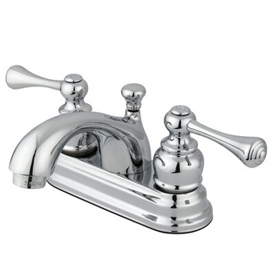 Vintage Double Handle Centerset Bathroom Faucet with ABS Pop-Up Drain Product Photo