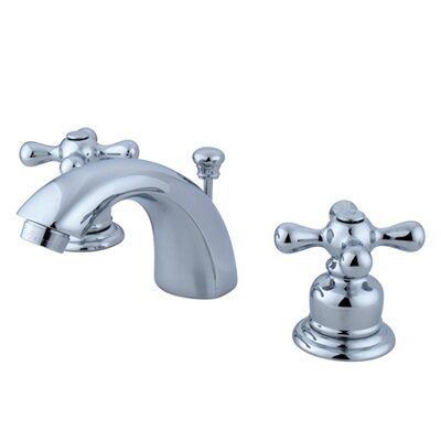 Victorian Double Handle Widespread Mini Bathroom Faucet with Brass Pop-Up Drain Product Photo