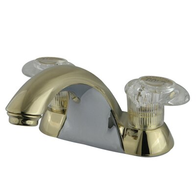 Naples Double Handle Centerset Bathroom Sink Faucet by Kingston Brass