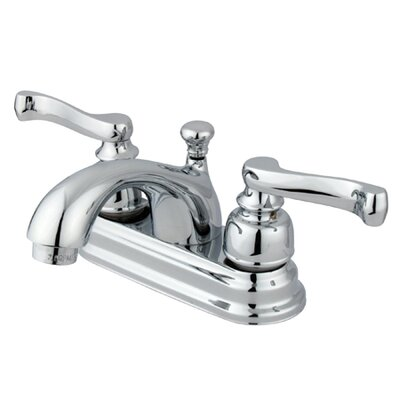 Royale Double Handle Centerset Bathroom Sink Faucet with Brass Pop-Up Drain Product Photo