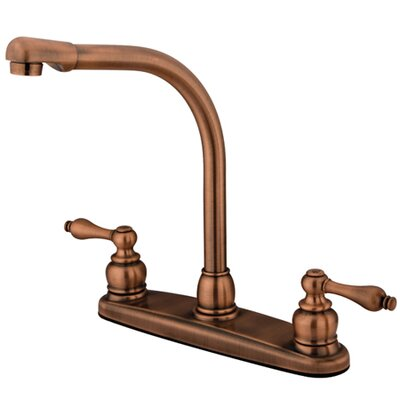 Victorian Double Handle CentersetHigh Arch Kitchen Faucet Product Photo