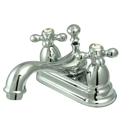 Restoration Double Handle Centerset Bathroom Sink Faucet with Brass Pop-up Product Photo