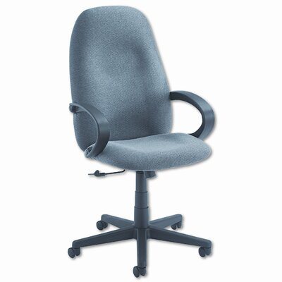 Global Total Office Enterprise High-Back Pneumatic Office Chair with Fixed Height Loop Arms