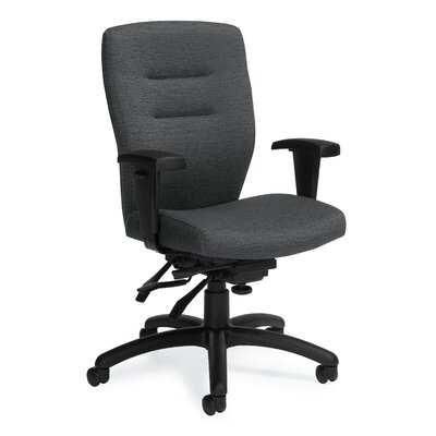 Global Total Office Synopsis Mid-Back Multi Office Chair with Height Adjustable Arms