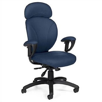 Global Total Office High-Back Leather Synchro-Tilter Executive Chair