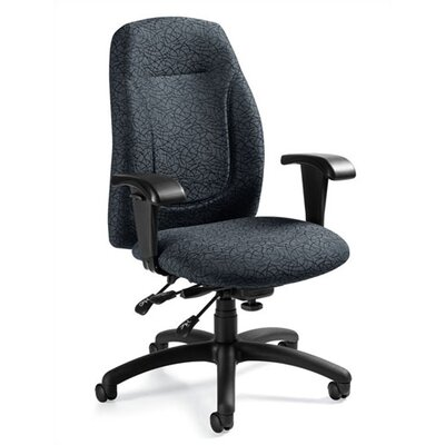 Global Total Office Mid-Back Multi-Tilter Office Chair with T-Arms