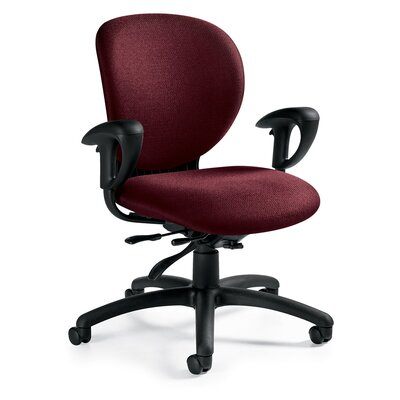 Global Total Office Low-Back Multi-Tilter Office Chair with Arms