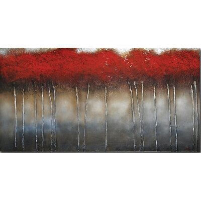 Ren-Wil Crimson Forest by St. Germain Original Painting on Wrapped Canvas