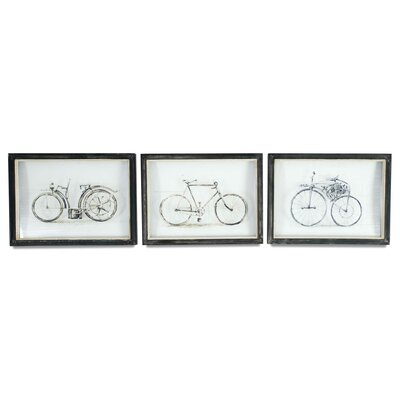 Vertuu Design Inc Vintage Bicycles 3 Piece Wall Art