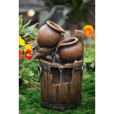 Polyresin and Fiberglass Pot and Urn Water Fountain by Jeco Inc.