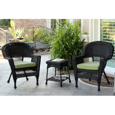 Julie 3 Piece Patio Set with Cushions by Jeco Inc.