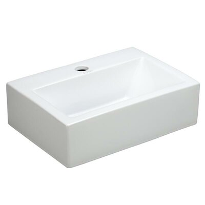 Porcelain Rectangle Wall Mounted Sink Product Photo