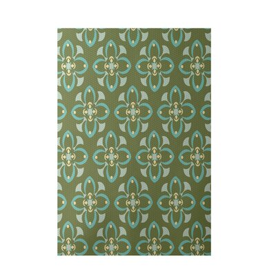 Decorative Green/Aqua Area Rug by e by design
