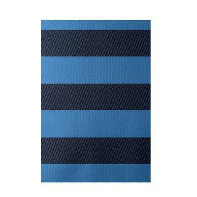 Decorative Stripe Blue Area Rug by e by design