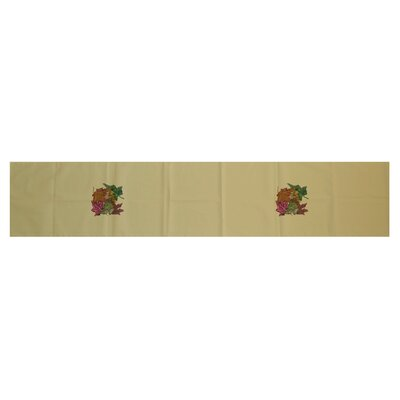 Autumn Leaves Floral Print Table Runner by e by design
