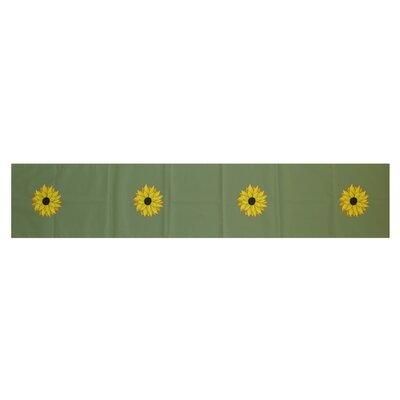 Sunflower Power Floral Print Table Runner by e by design