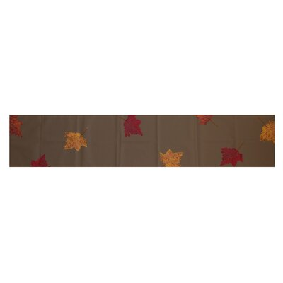 Dancing Leaves Floral Print Table Runner by e by design