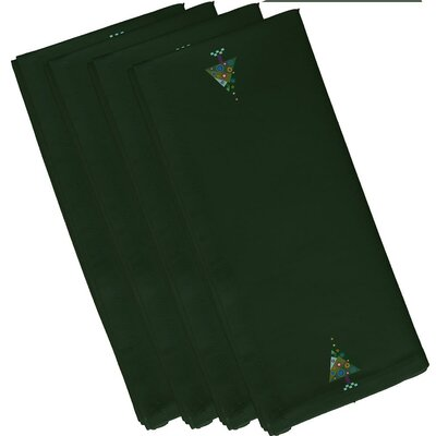 Crazy Christmas Holiday Print Napkin by e by design