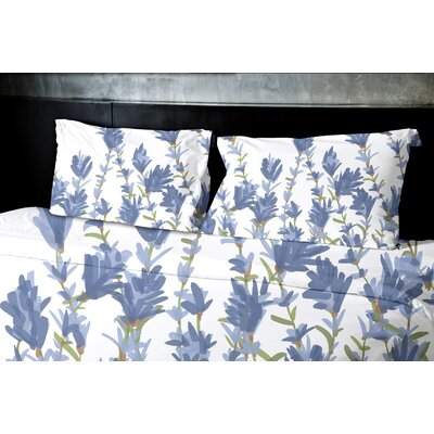 Botanical Blooms Lavender Floral Duvet Cover by e by design