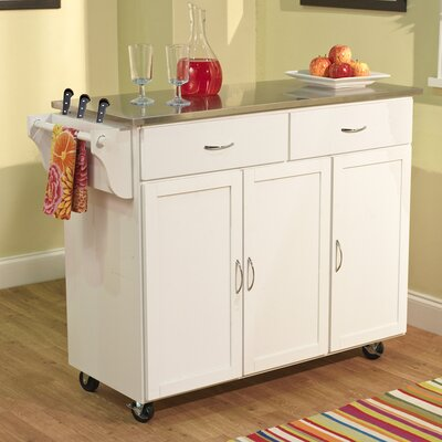 Berkley Kitchen Island with Stainless Steel Top Product Photo