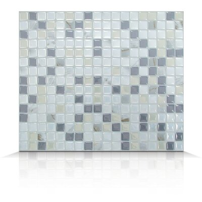 "Mosaik 9.64"" x 9.64"" Mosaic in Pearl & Gray Product Photo"