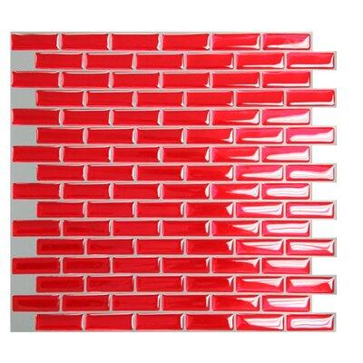 "Mosaik 9.1"" x 10.2"" Metal Mosaic Tile in Red Product Photo"