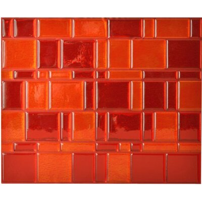 "Mosaïk 11.55"" x 9.65"" Mosaic Tile in Tango Ruby Product Photo"