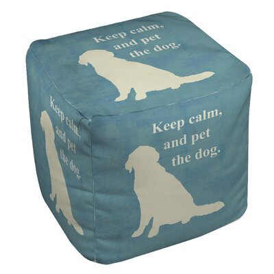 Keep Calm and Pet the Dog Ottoman by Thumbprintz