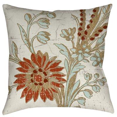 Garden Tile 2 Printed Throw Pillow by Thumbprintz