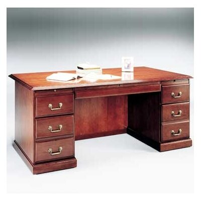 High Point Furniture Legacy Double Pedestal Executive Desk with 3 Right & 3 Left Drawers