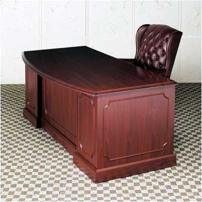 High Point Furniture Bedford Single Pedestal Bow Front Executive Desk