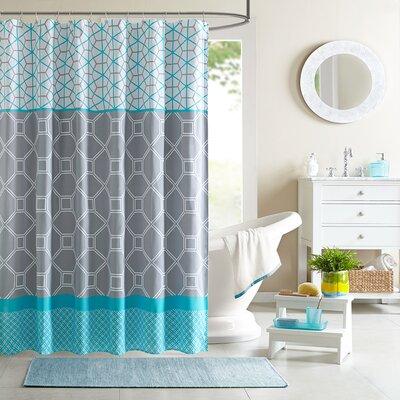 Clara Microfiber Shower Curtain by Intelligent Design
