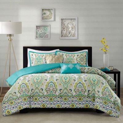 Tasia Comforter Set in Green by Intelligent Design