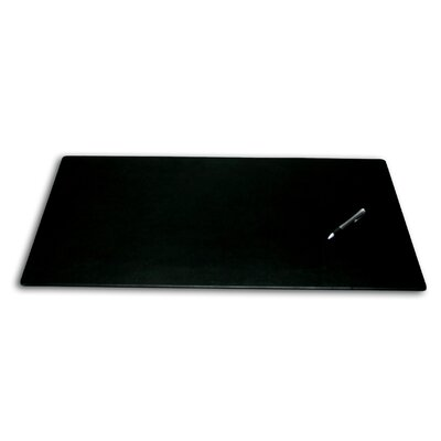 Dacasso 1000 Series Classic Leather 30 x 19 Desk Mat without Rails in Black