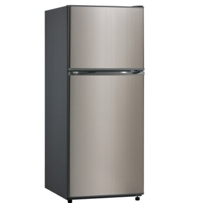 Midea 12 cu. ft. Top Freezer Refrigerator in Stainless Steel Product Photo