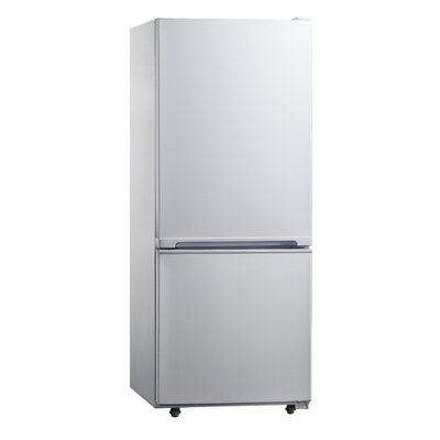 Midea 10 cu. ft. Bottom Freezer Refrigerator in White Product Photo