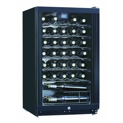 Midea 35 Bottle Single Zone Freestanding Wine Refrigerator by Equator