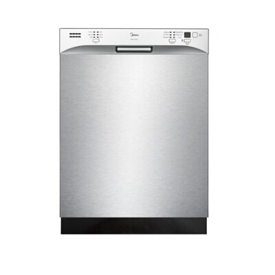 "Midea 23.6"" 52dBA Built-In Dishwasher in Silver Product Photo"
