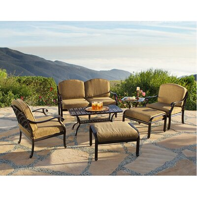 Sierre 7 Piece Deep Seating Group with Cushions by Art Frame Direct