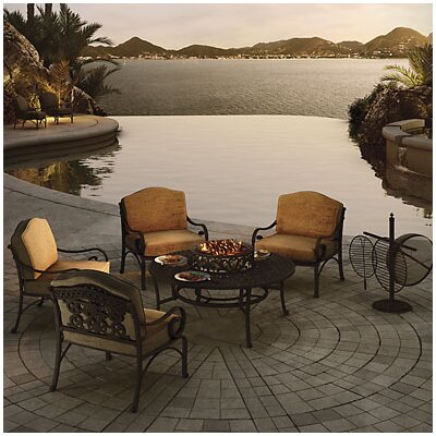 Maravilla 5 Piece Fire Pit Seating Group with Cushions by Art Frame Direct