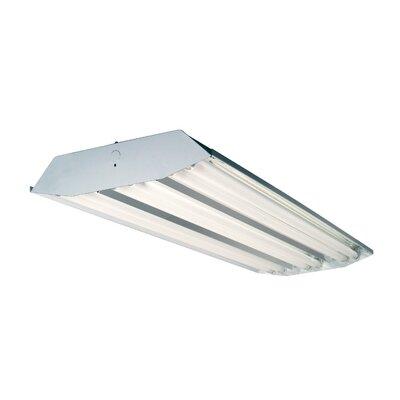 lighting 6 light high bay fluorescent light fixture with 32w t8 bulbs. Black Bedroom Furniture Sets. Home Design Ideas